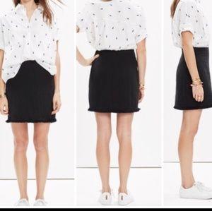 Madewell Hideaway Fringe Skirt Black Size 0